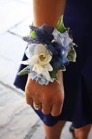 navy blue corsage flower design buttonhole corsage blue ivory wrist corsage