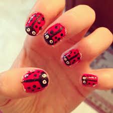 easy ladybug nails tutorial youtube