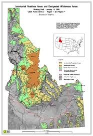 Idaho national forest map map