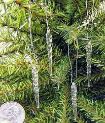 package of 48 miniature clear plastic hanging icicle