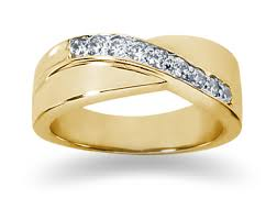 womens gold wedding bands 027 carat womens diamond wedding band in 18k yellow gold for