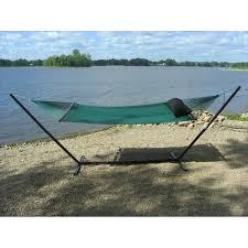 hammock jumbo green and steel stand bronze combo