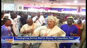thanksgiving service held in honour of immediate past edo state
