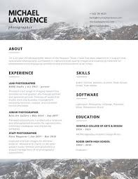 resume for photographer sample photographer resume photography