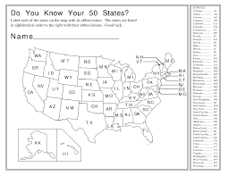 Map Of The 50 States 11 Best Images Of Name The 50 States Worksheet 50 United States