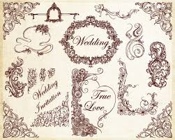 ornamental wedding decoration elements vector vector photoshop