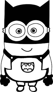 batman cartoon minions coloring wecoloringpage