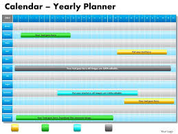 yearly calendar template powerpoint 3 years project planning gantt