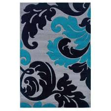 Teal And Green Rug Linon Home Decor Area Rugs Rugs The Home Depot