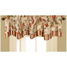 interior curved curtain rod with waverly valances