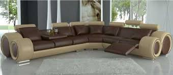Two Tone Reclining Sofa Tone Leather Sectional Sofas With Recliners Modern Living Room
