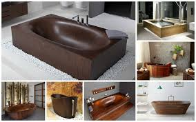 wooden bathtubs bathtubs for a warm look of the bathroom
