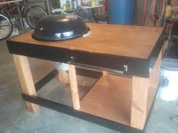 how to build a weber grill table weber grill station by mcwillystylez lumberjocks com