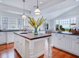 Coastal Kitchen Seattle - georgian kitchen traditional with colonial trim and border tiles