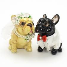 bulldog cake topper bulldog wedding cake topper p0011 dog lover figurine