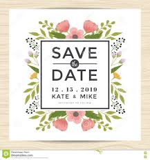 Marriage Invitation Card Templates Free Download Save The Date Wedding Invitation Card Template With Hand Drawn