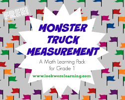 monster truck measurement for first grade printables