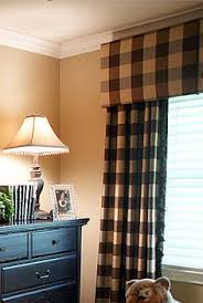 linen check rod pocket curtains a bold scale buffalo check is