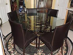Bloomingdales Dining Chairs Bloomingdale S Mitchell Gold Jules Brass Glass Top Dining Set