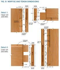 Mortise And Tenon Cabinet Doors How To Make A Door Diy Screen Door Project