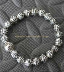 silver bead bracelet with heart images Chrome hearts bead bracelet alert bracelet jpg