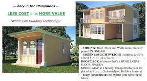 Affordable Home Construction P200k And Above Waffle Box House Protection Against Typhoon And