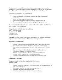 buyer sample resume excellent sample of fashion stylist resume with professional fullsize
