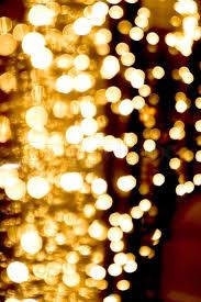 Gold Lights Defocused Abstract Golden Lights Background Natural Photo Bokeh