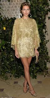jessica hart sparkles from head to toe with jewel encrusted heels