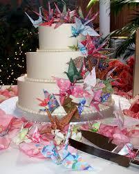 Origami Wedding Cake - westernised japanese wedding cakes