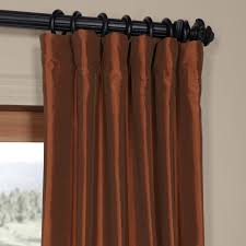 Austrian Shades Ready Made by Buy Paprika Faux Silk Taffeta Curtains U0026 Drapes
