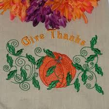 thanksgiving pumpkin embroidery design