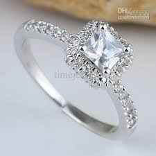 square silver rings images Women square white topaz finger silver ring size 8 wed j7768 jpg