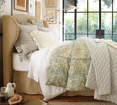 Pottery Barn Hampton Bed Fantastic Upholstered Wingback Headboard House Of Hampton Grammont