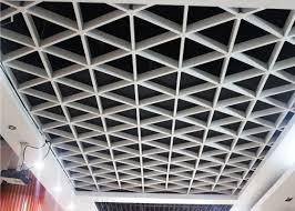 unique lattice suspended metal ceiling grid for office civil