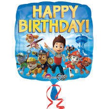 halloween foil balloons paw patrol happy birthday foil balloon birthdayexpress com
