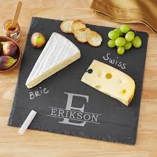 monogrammed cheese plate personalized entertaining gifts from personal creations