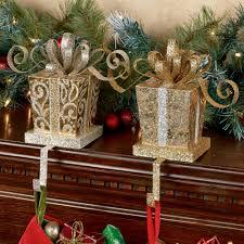 elegant gift stocking holder set