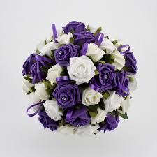 purple wedding flowers white and bright purple wedding bouquets flowers wedding photos