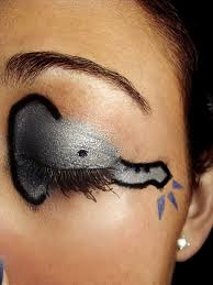 elephant eye shadow blue pinterest