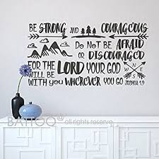 Scripture Wall Decals For Nursery Battoo Be Brave Strong And Courageous Joshua 1 9