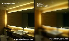 Mirror Defoggermirror Demistersteam Free Mirrorfog Free Mirror - Mirror lights for bathroom