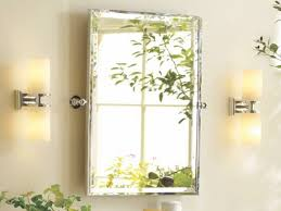 Polished Nickel Vanity Mirror Bathrooms Design Rectangular Vanity Mirror Pivot Bathroom