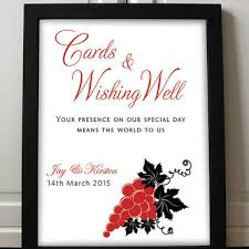 sign a wedding card wishing well sign wedding printable diy from paintthedaydesigns