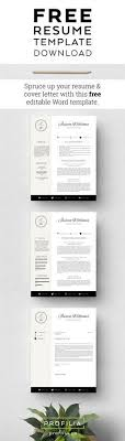 Free Resume Cover Letter Template Best 25 Free Resume Format Ideas On Free Cover Letter