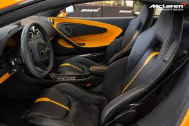 orange mclaren interior mclaren 570s makes west coast debut at mclaren newport beach