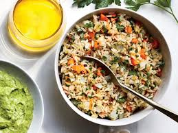 rice cuisine parslied brown rice pilaf recipe cooking light
