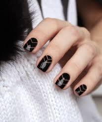 30 edgy black nails with design nail design ideaz