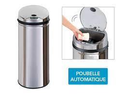 poubelle cuisine automatique frandis poubelle automatique inox sensor 45l pas cher achat