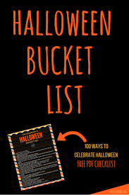 bucket list 100 ways to celebrate halloween uncustomary